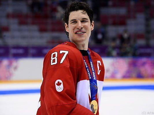Olympiasieger Crosby wird wohl auch in Wien am Eis stehen