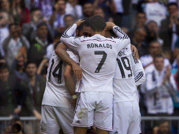 Real Madrid jubelte über den entscheidenden Treffer kurz vor Spielende.