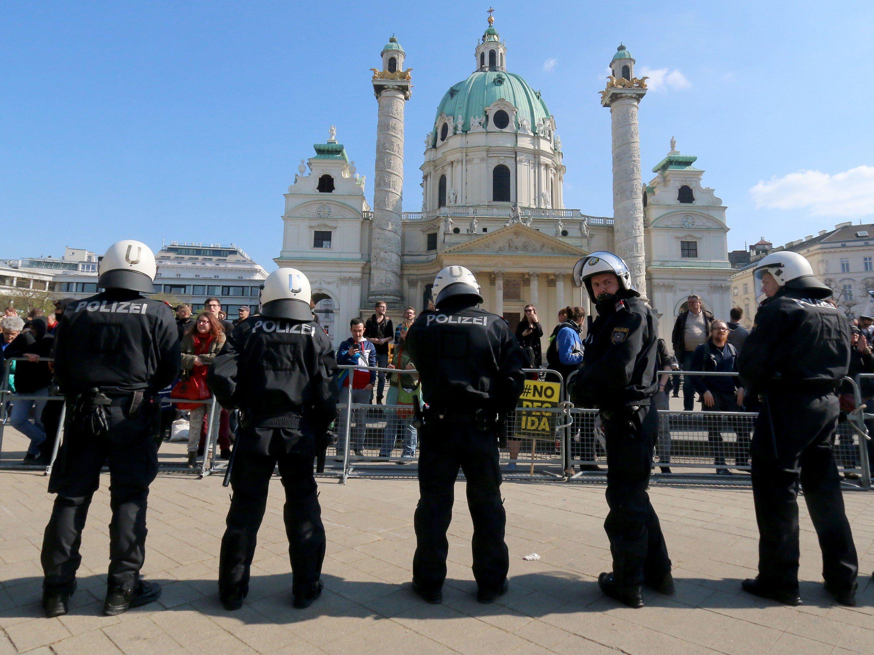 Zweite Pegida-Kundgebung in Wien verlief ohne Zwischenfälle