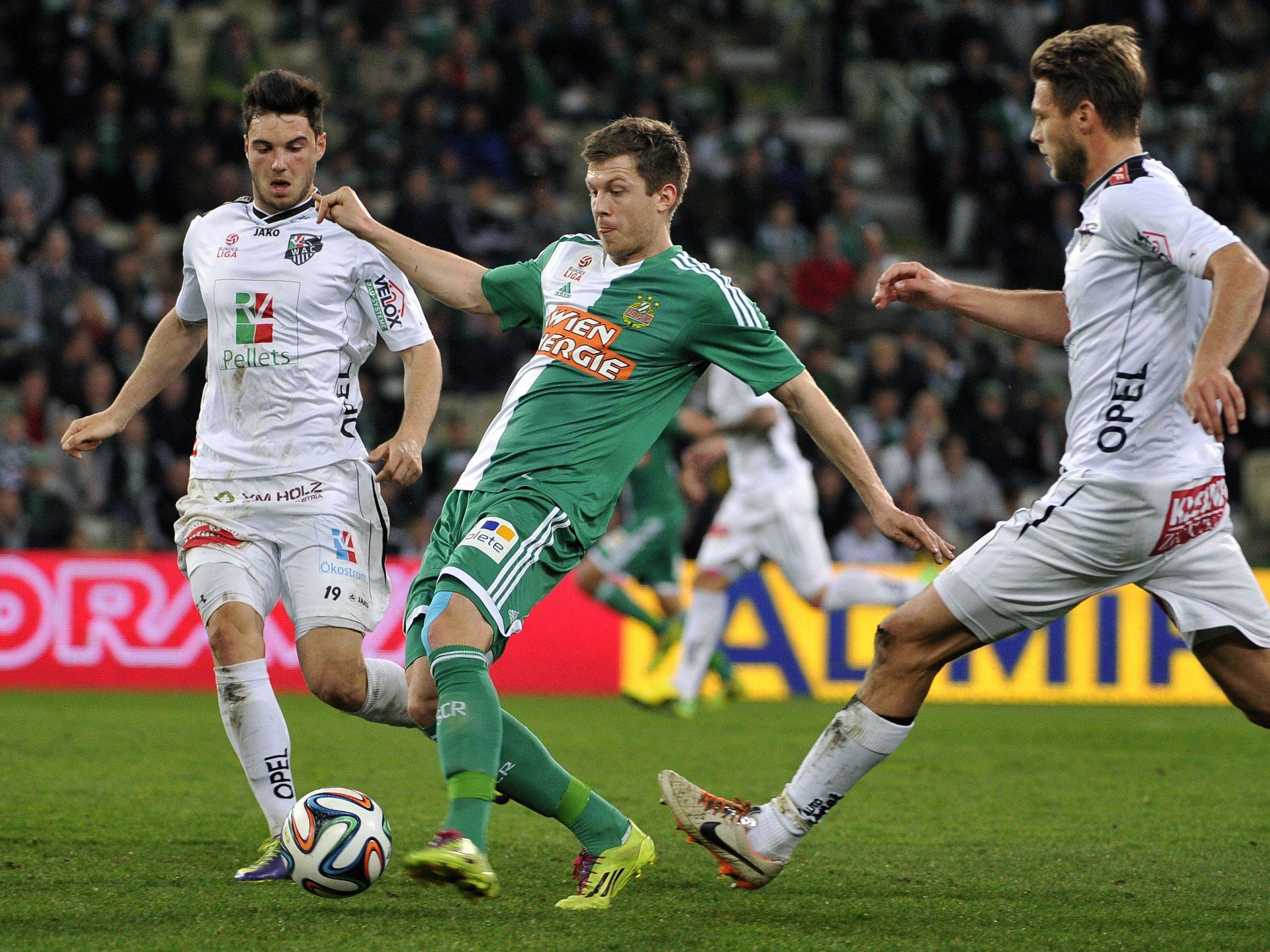 LIVE-Ticker zum Spiel SK Rapid Wien gegen WAC ab 18.30 Uhr.