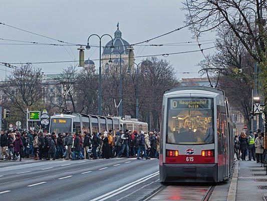 Am Wiener Ring fahren ab Ostermontag wieder regulär die Straßenbahnen
