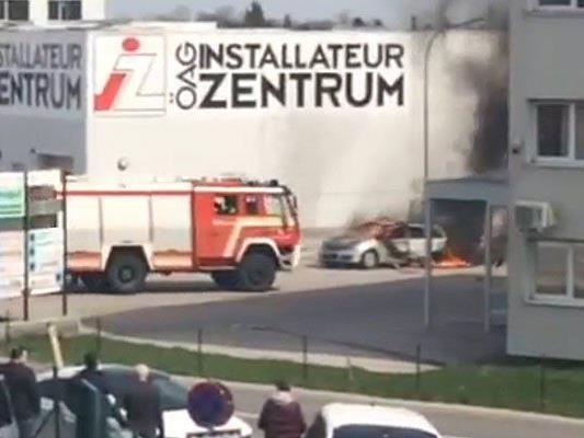 Hier brannte das Fahrzeug in Brunn am Gebirge