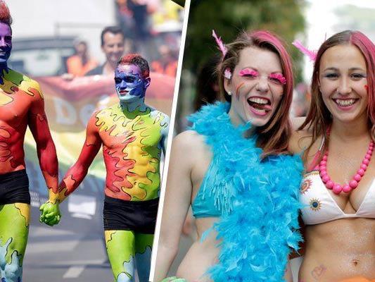 Bei Regenparade und Co. zeigt die Gay Community Wien, wie man richtig feiert