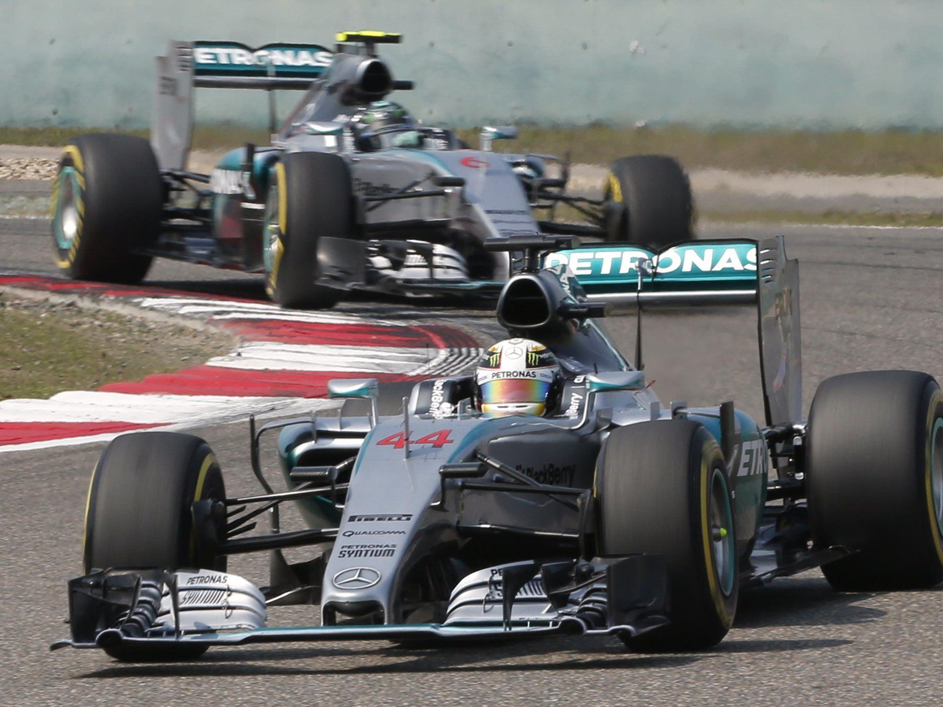 Hamilton triumphierte in China vor Rosberg und Vettel.
