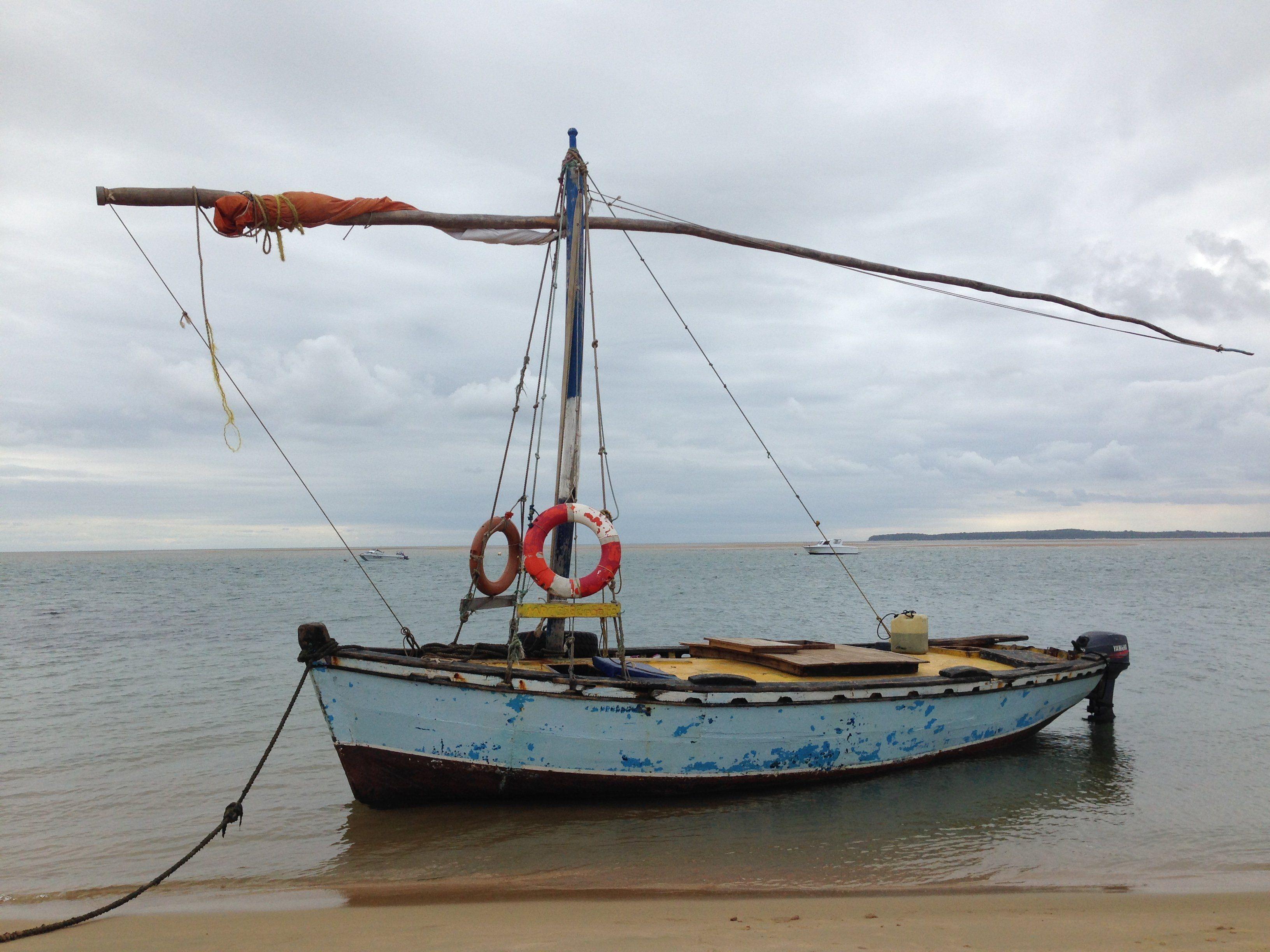 Mit dem Segelboot landeten die Beiden auf Inhaca.
