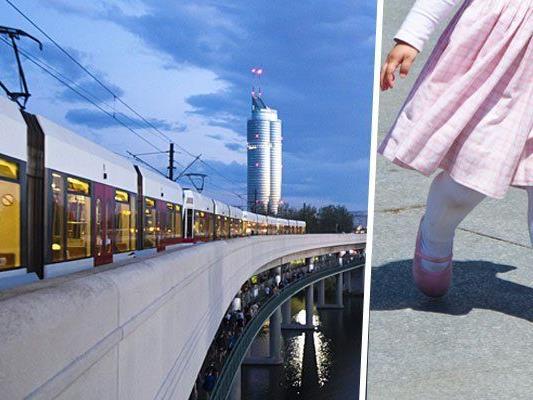 In der U6-Station Neue Donau blieb das kleine Mädchen allein zurück