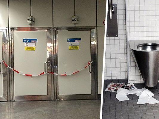 Viele waren gesperrt, einige der U-Bahn-WCs in einem nicht idealen Zustand