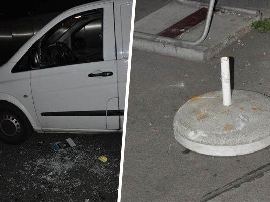Wien-Ottakring: Mutmaßlicher Autoeinbrecher zerschlägt Scheibe mit Schirmständer