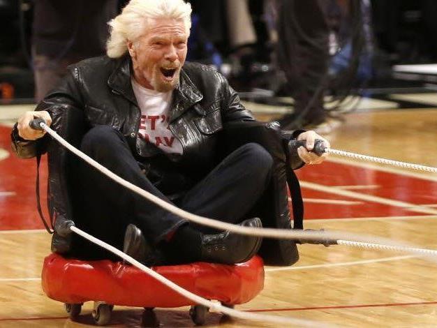 Branson hatte sichtlich Spaß