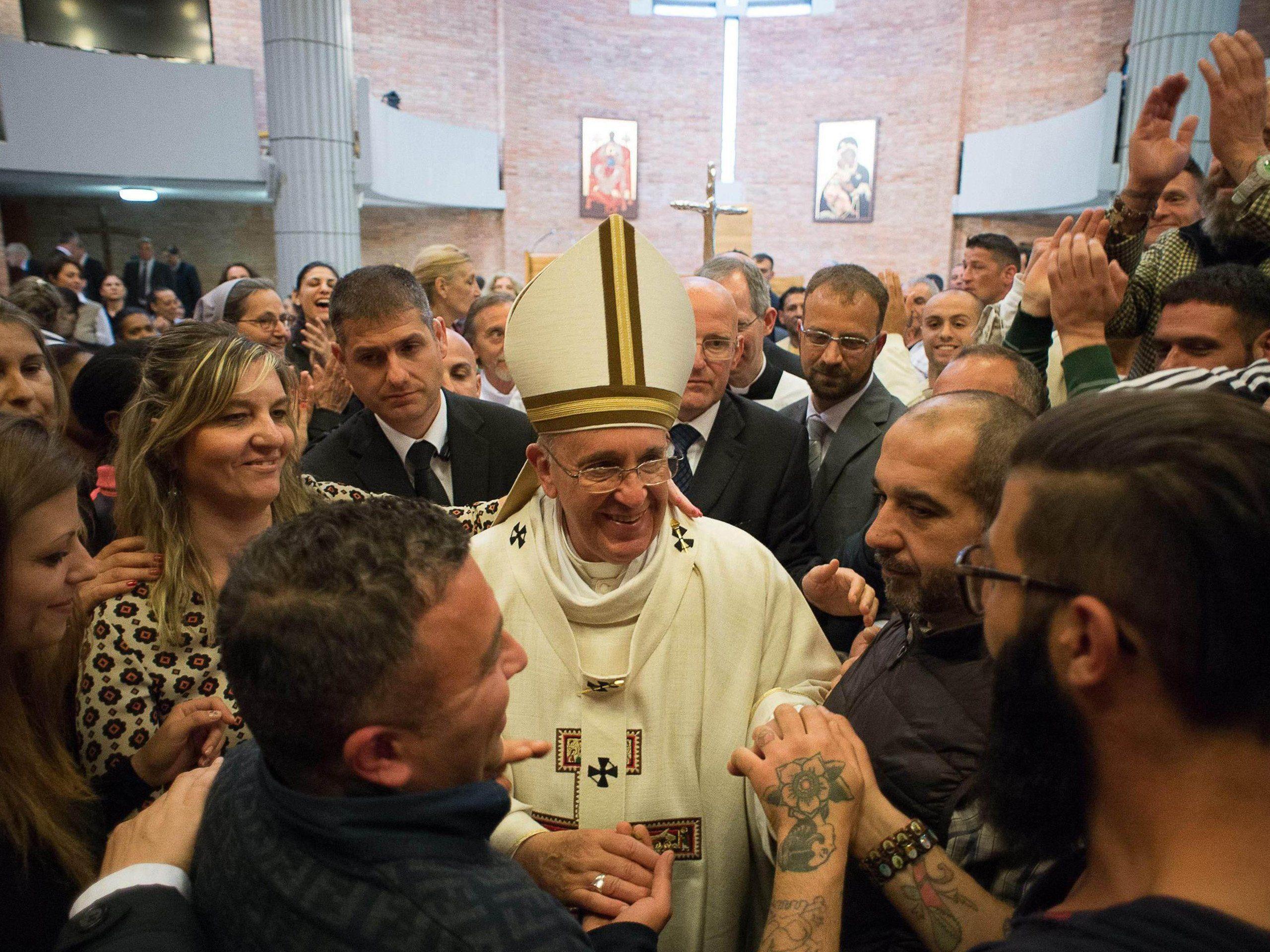 Papst Franziskus war am Gründonnerstag zur Fußwaschung in der Strafanstalt Rebibbia.