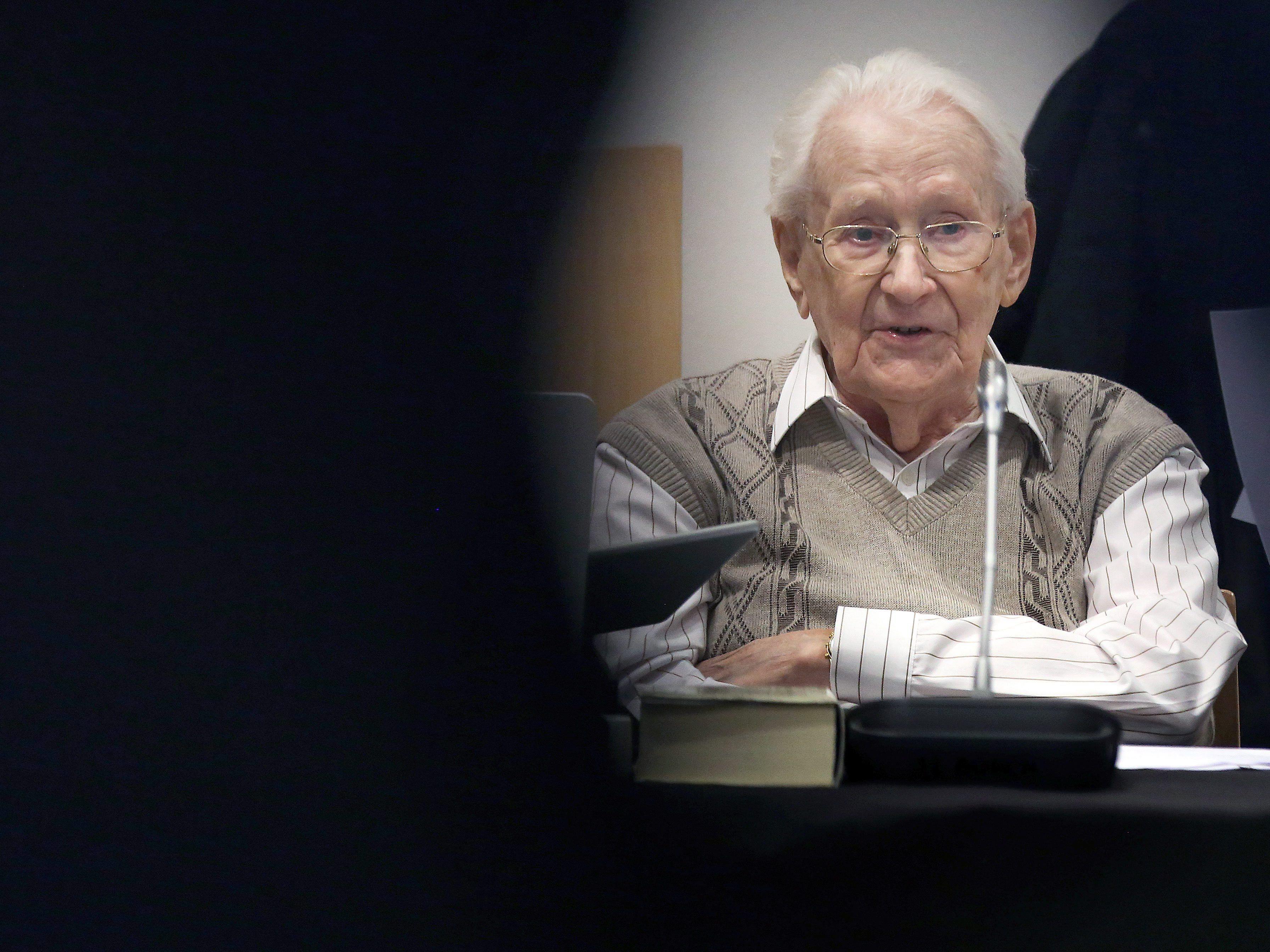 """Der """"Buchhalter von Auschwitz"""", Oskar Gröning, legte am Dienstag ein Geständnis ab."""