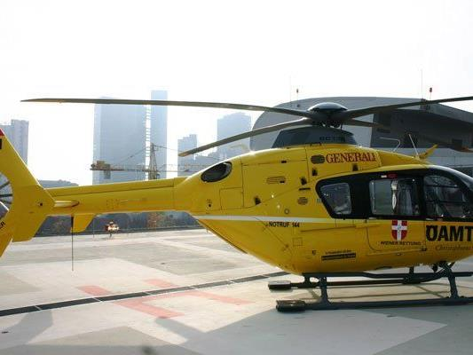 Mit dem Rettungshubschrauber wurde einer der Verletzten ins Spital gebracht.