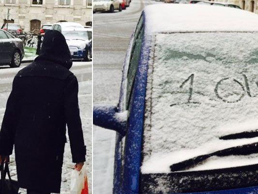 Am 1. April hat es in Wien tatsächlich geschneit.