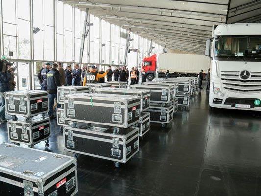 Am 7. April hat der Aufbau für den ESC in der Wiener Stadthalle begonnen.