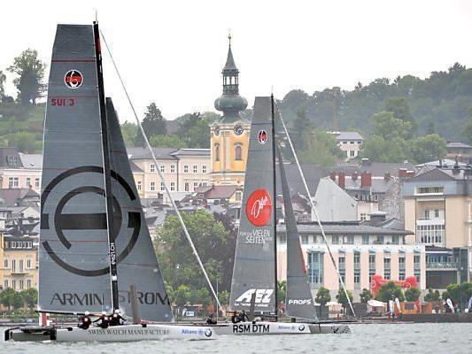 Erstmals nimmt heuer auch das Schweizer Team Alinghi teil