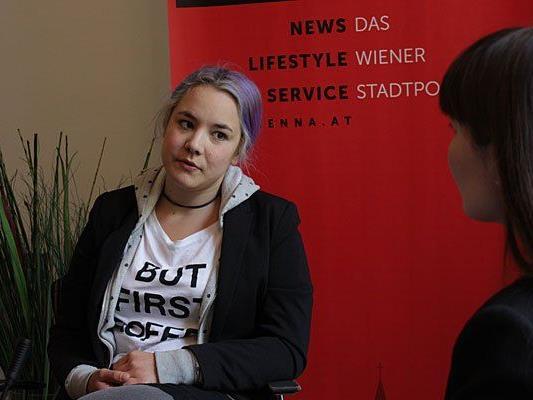 Juliana Okropiridse beim Interview mit VIENNA.at