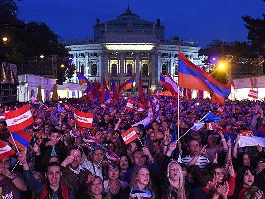 Fans feierten ersten österreichischen ESC-Gewinner