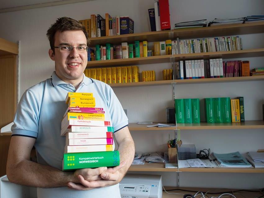 Michal Perlinski spricht 33 Sprachen, mit Mathematik hat er Probleme.