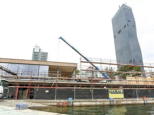 Der Bau der neuen Lokale ist schon weit fortgeschritten.