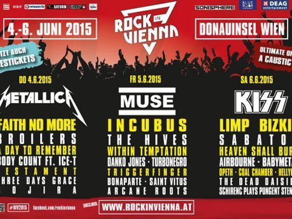 Sei beim ersten Rock in Vienna Festival dabei.