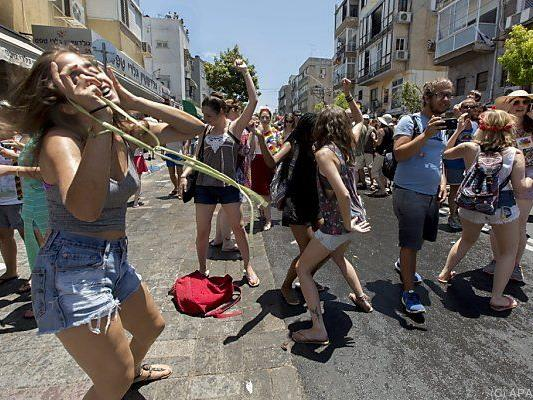 Partystimmung in Tel Aviv