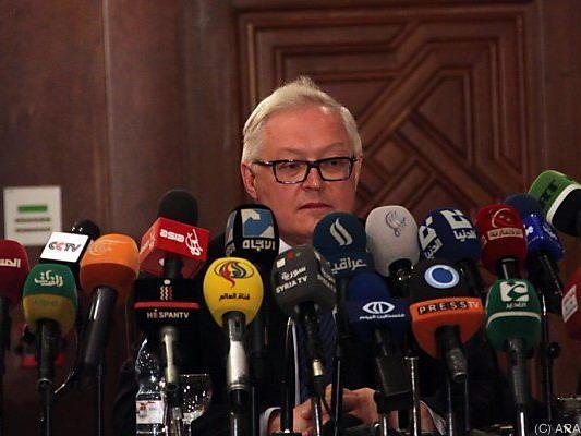 """Riabkow verweist auf """"sehr wenig"""" verbleibende Zeit"""