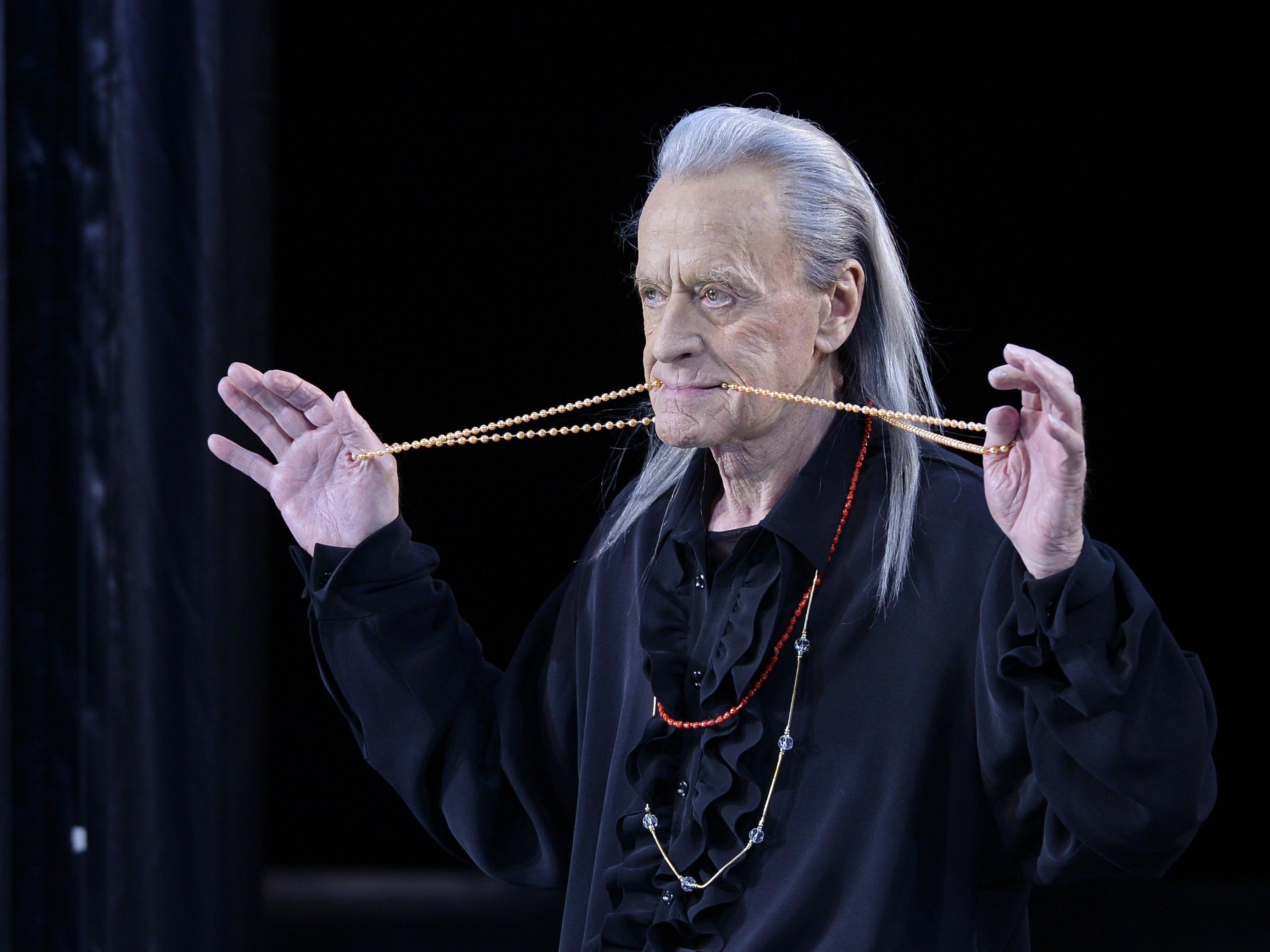 """Helmuth Lohner als """"Valmont"""" während der Fotoprobe von """"Quartett"""" im Josefstadt Theater in Wien"""