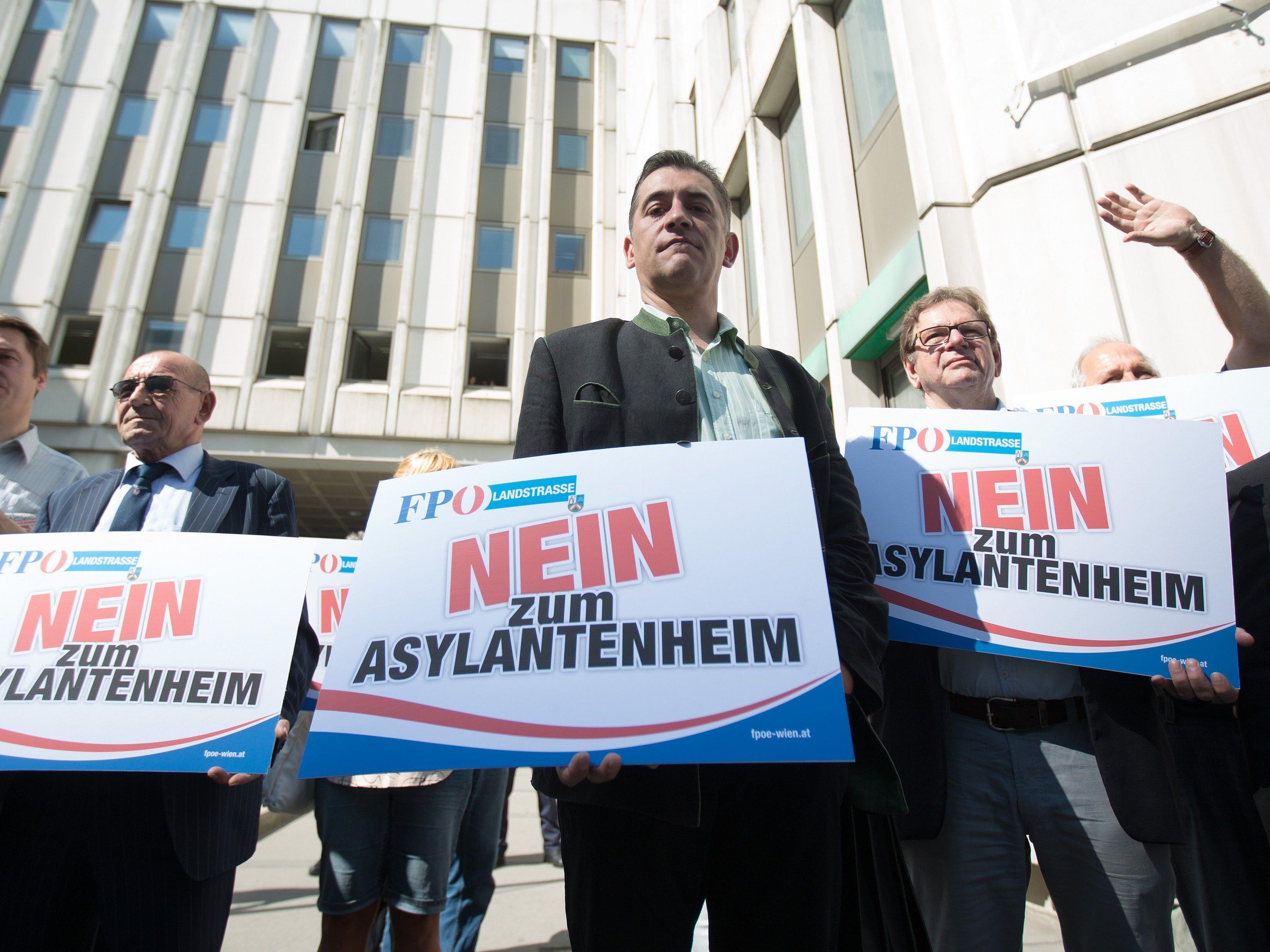 FPÖ-Landstraße ließ durch ihre Protestaktion bereits aufhorchen.
