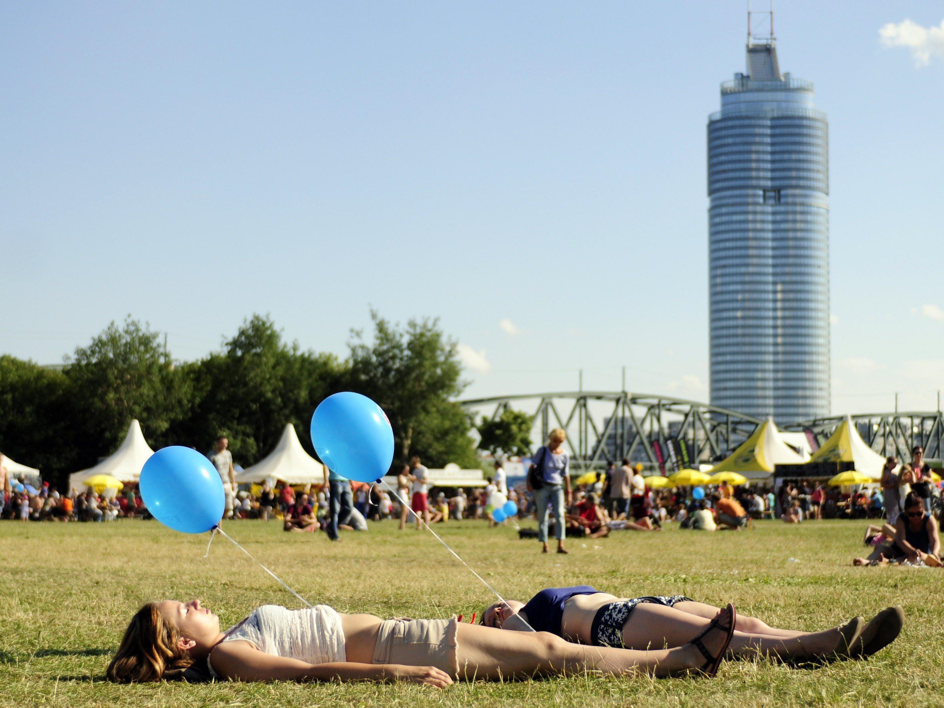 Sonne oder Regen? So wird das Wetter am Donauinselfest 2015.