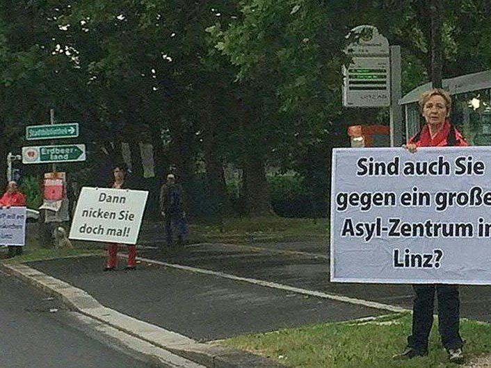 Diese Taferl-Aktion der SPÖ Linz sorgte für Aufregung.