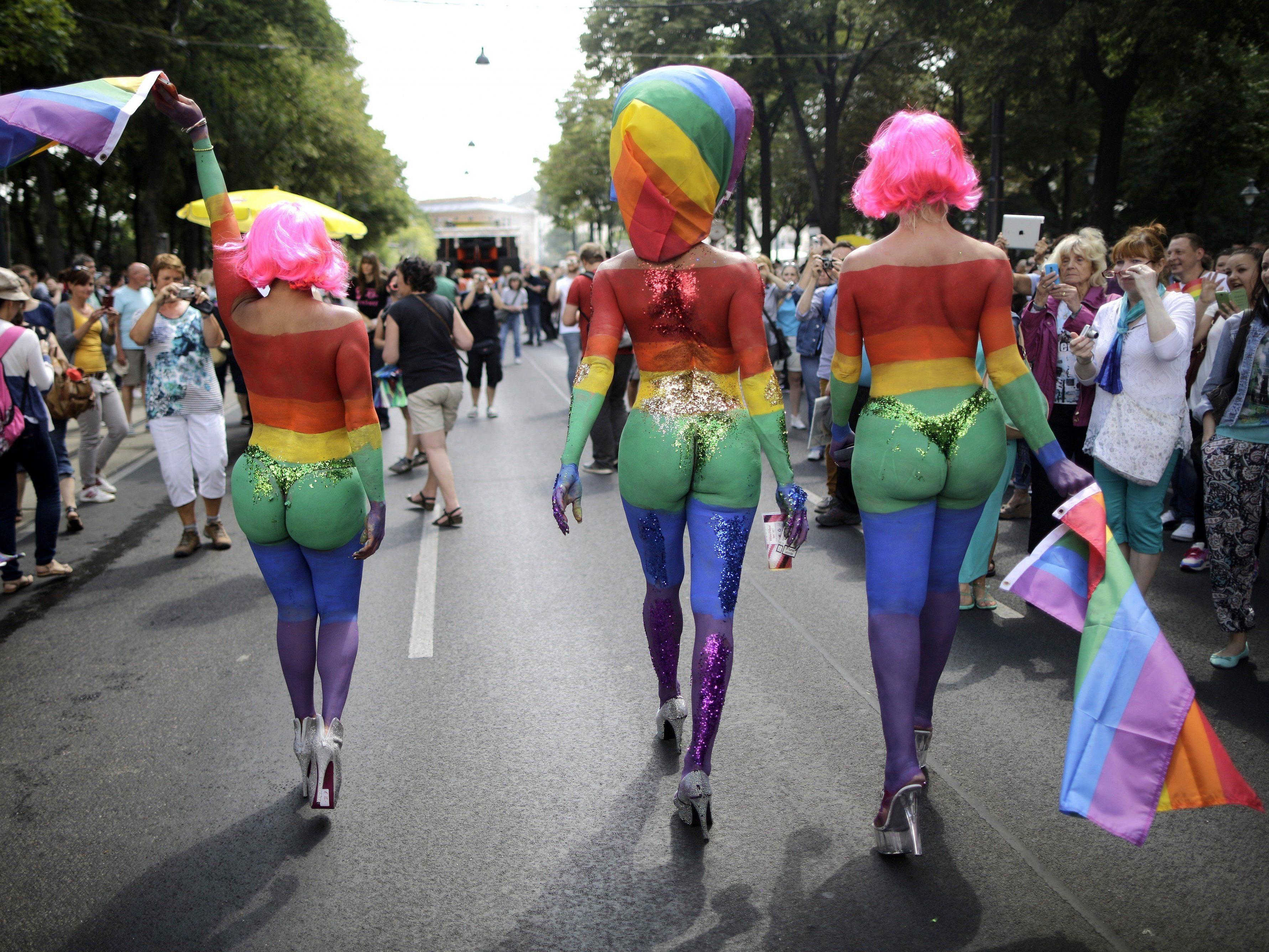 : Regenbogenparade in Wien