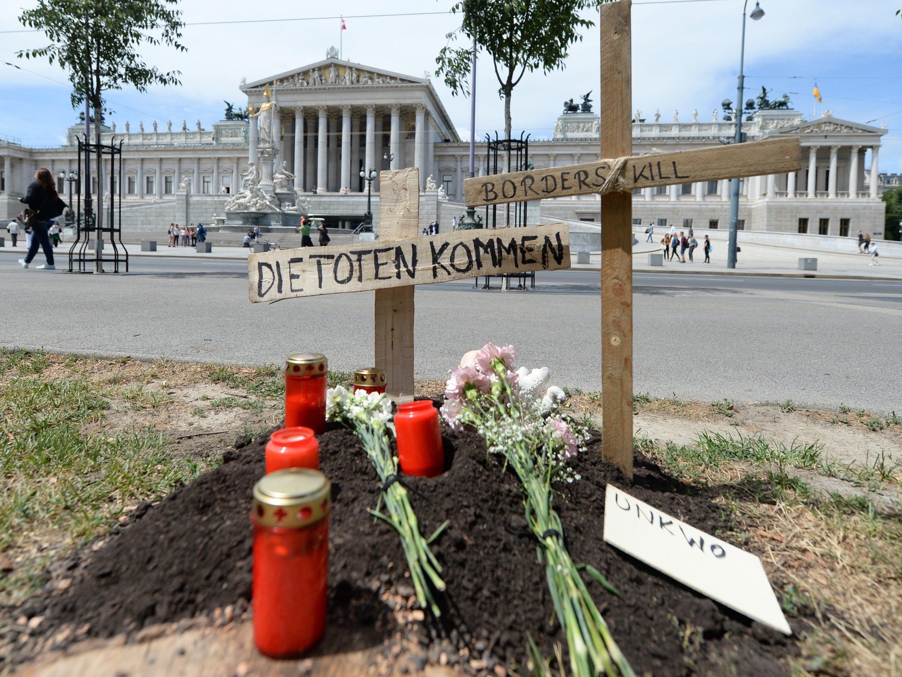 """Die Kunstaktion """"Die Toten kommen"""" macht nun auch in Wien halt."""