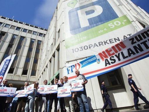 Bei der FPÖ-Protestaktion in Erdberg