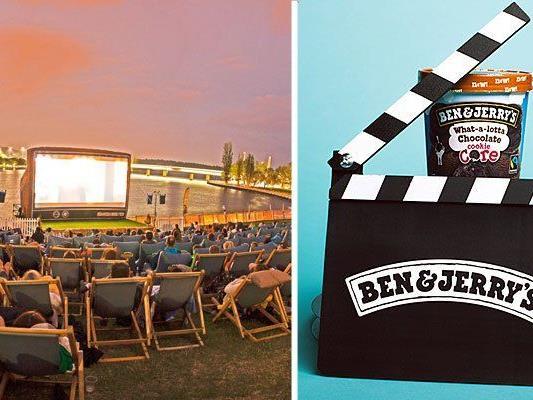 Free Ice Cream & Free Movies heißt es beim Wiener Donaukanal