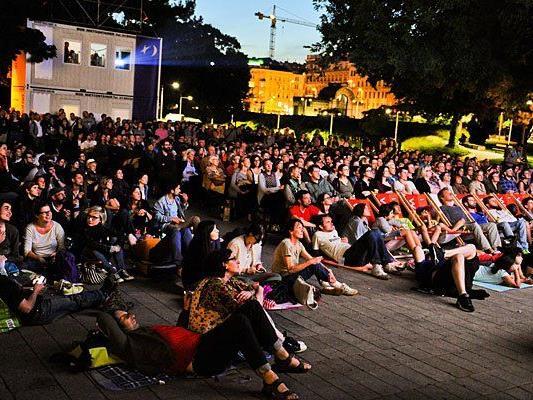 Eines der schönsten Wiener Sommerkinos: das Kino unter Sternen