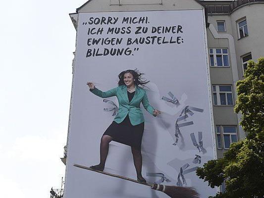 Das neue Vassilakou-Plakat am Naschmarkt