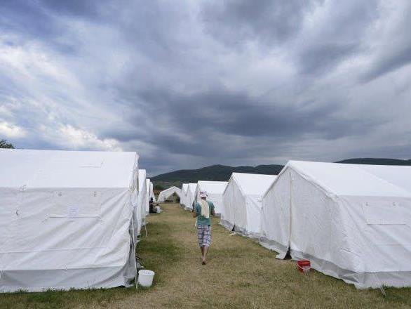 Zeltlager des Flüchtlingslagers Traiskirchen
