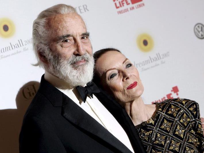 Christopher Lee, hier im Bild mit seiner Frau Birgit Kroencke, wurde 93 Jahre alt.
