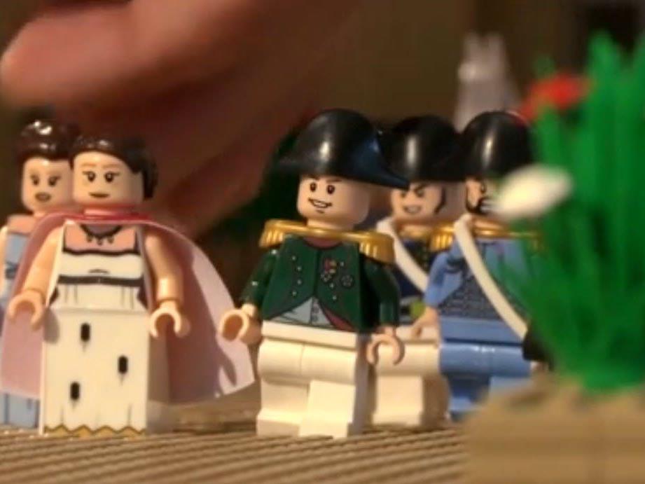 Die Schlacht von Waterloo in Lego.
