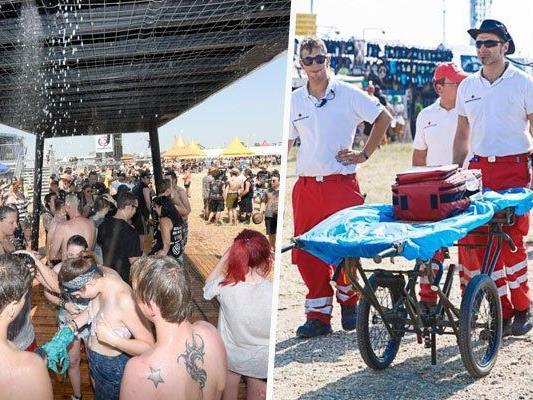 Nova Rock - 880 hitzeerschöpfte Besucher vom Roten Kreuz versorgt