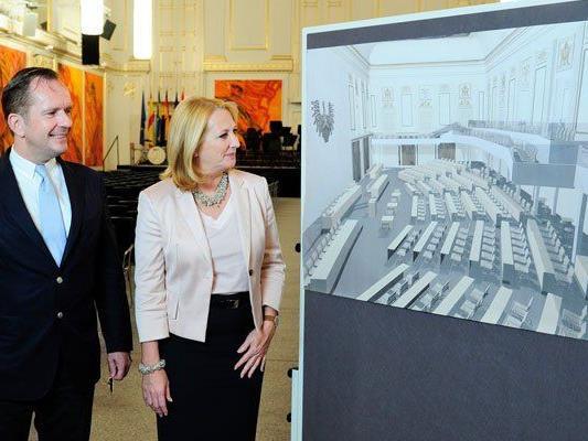 Nationalratspräsidentin Doris Bures in der Hofburg
