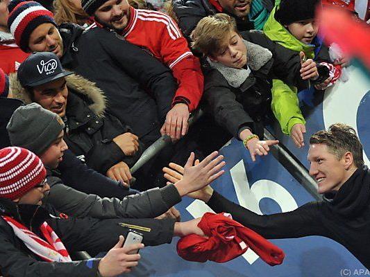 """Die Bayern-Fans werden ihren """"Schweini"""" wohl vermissen"""
