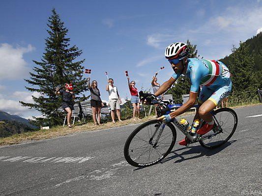 Nibali fuhr am Ende der Etappe allen davon