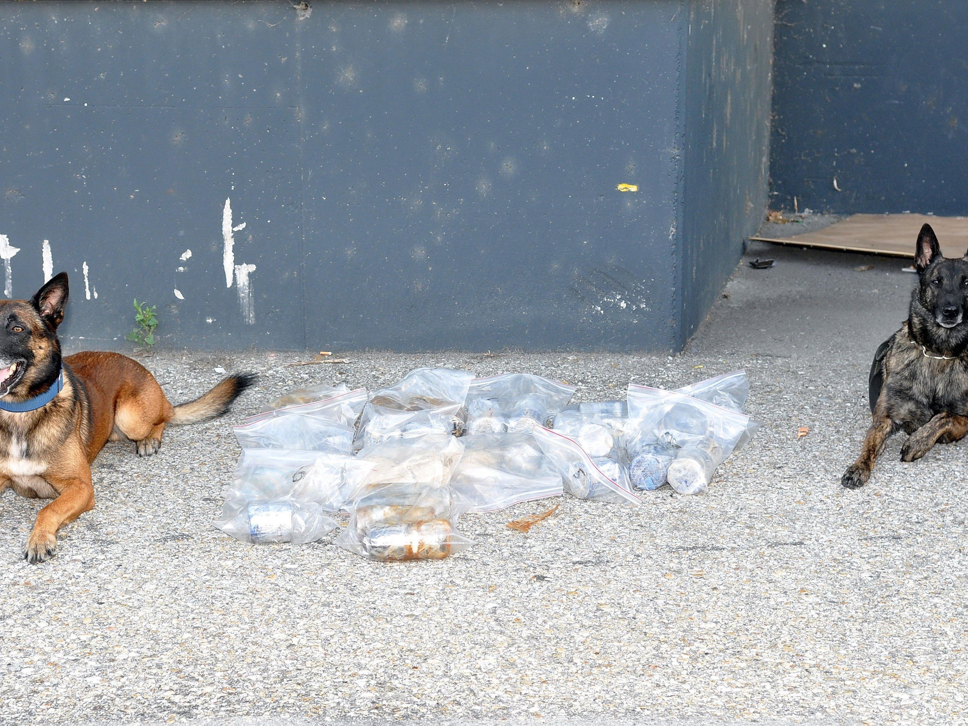 34 Kilo Heroin wurden durch die Spürhunde gefunden.
