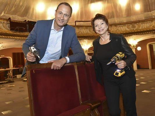 Am Montag starteten die Sanierungsarbeiten im Volkstheater.