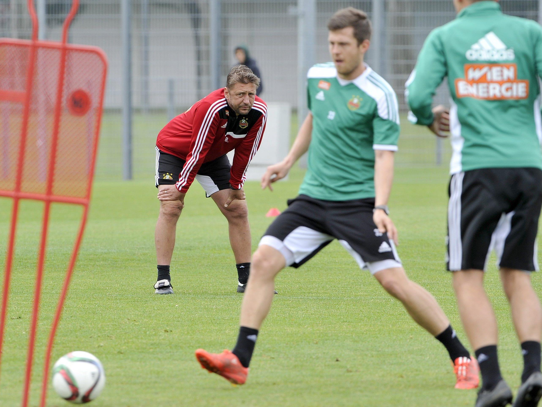 Rapid Wien blickt optimistisch in die neue Fußball-Saison.