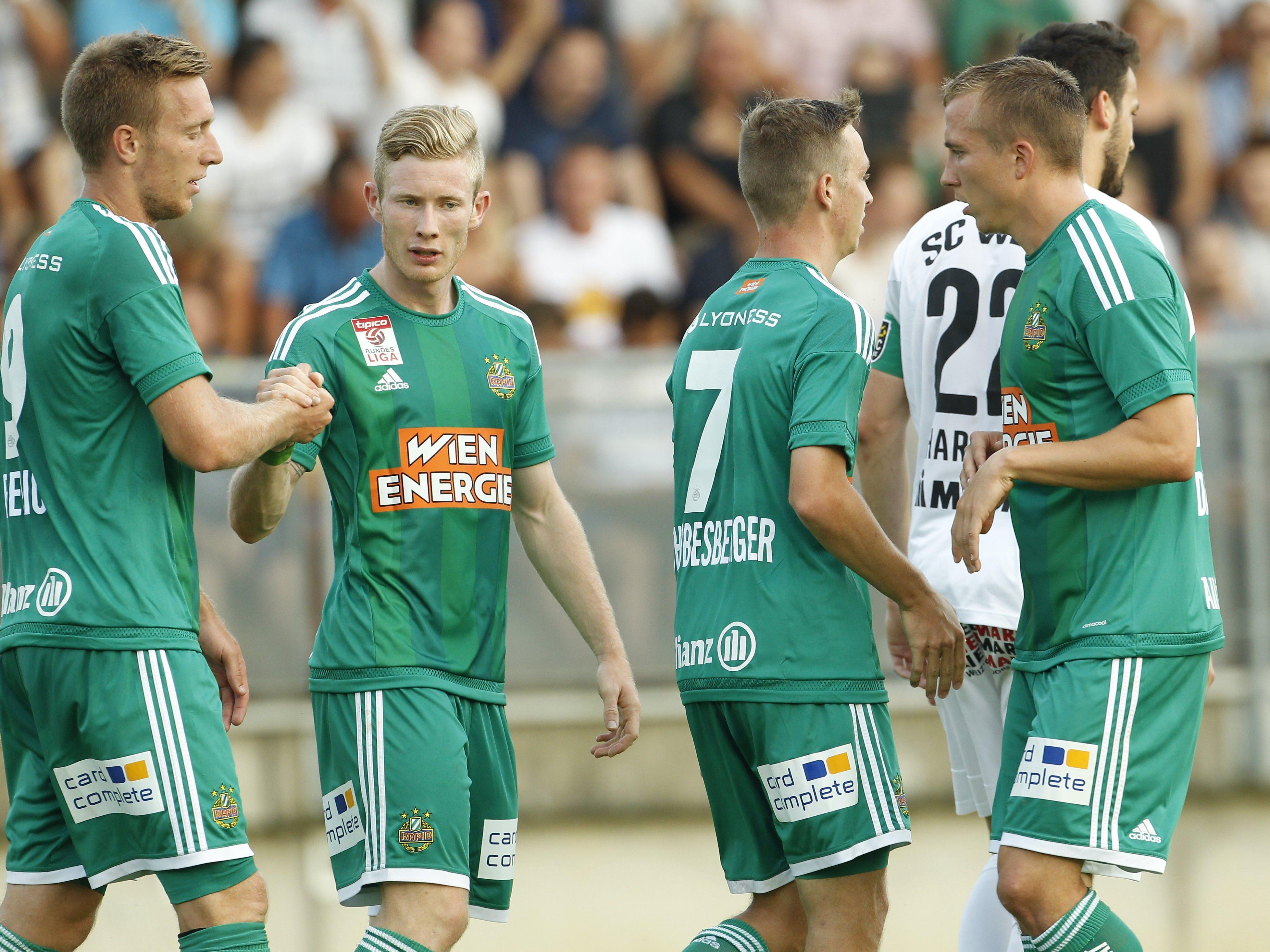 Rapid Wien startete ungefährdet in den ÖFB-Cup.