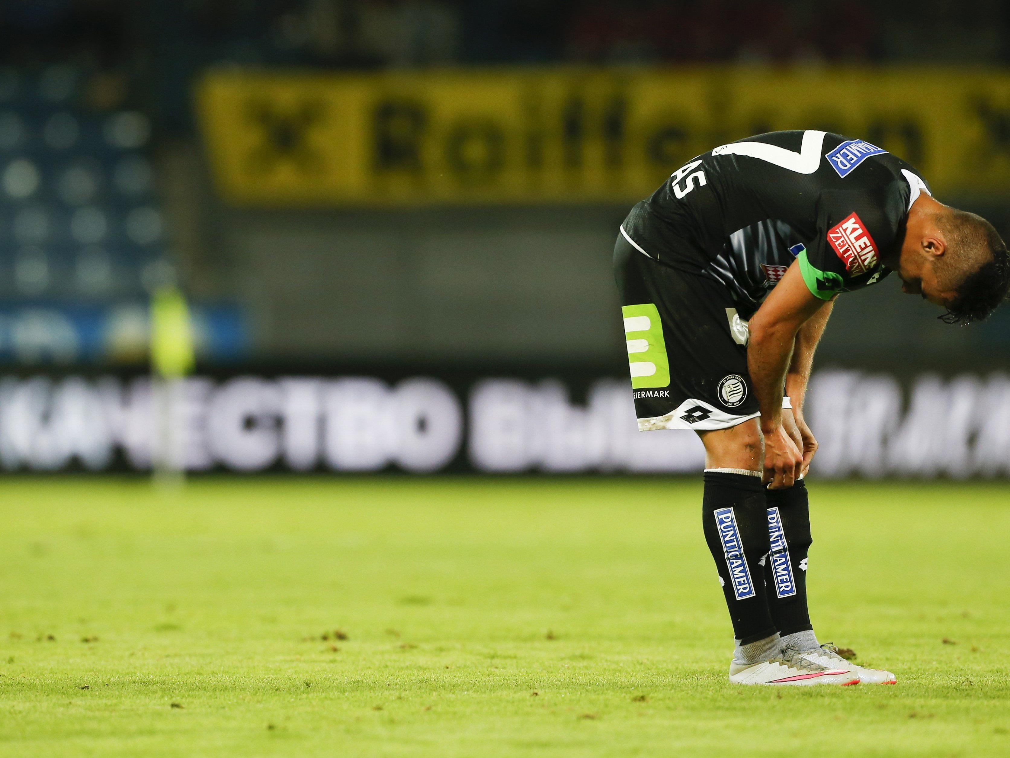 Sturm Graz musste in der Europa League-Qualifikation eine Niederlage hinnehmen.