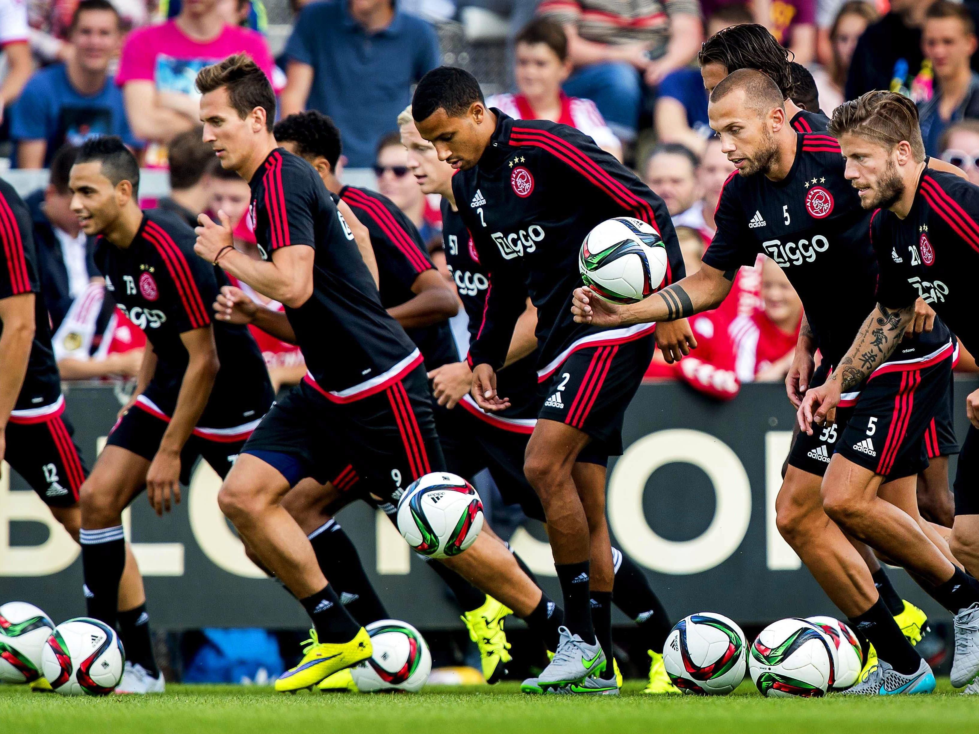 Ajax Amsterdam freut sich auf die CL-Partie gegen Rapid Wien.