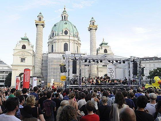 The Vegetable Orchestra bei der Popfest-Eröffnung